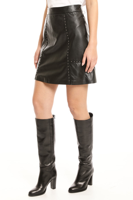 Studded leather miniskirt Intrend