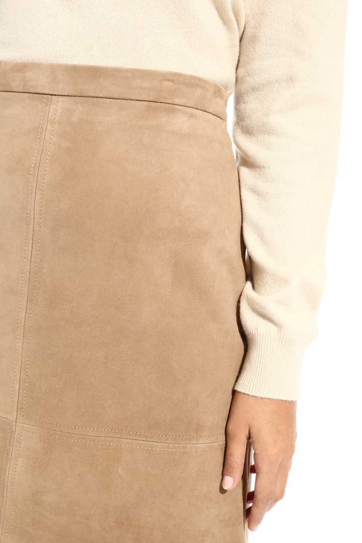 High waisted suede skirt Intrend
