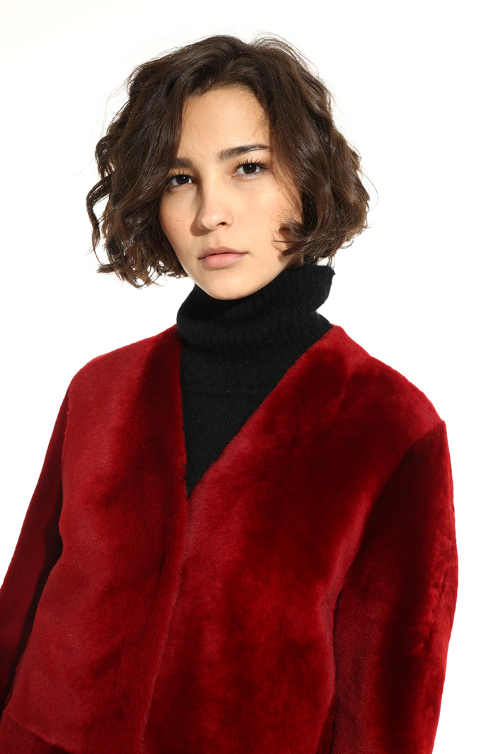 Lamb fur jacket Intrend