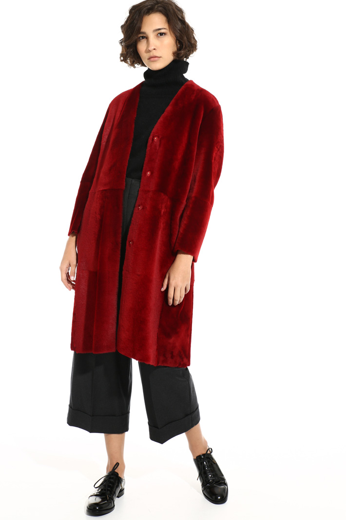 Lamb fur jacket Intrend