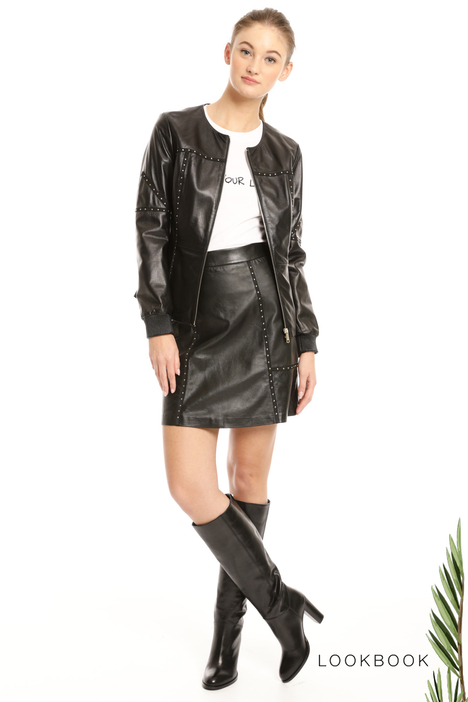 Studded leather jacket Intrend