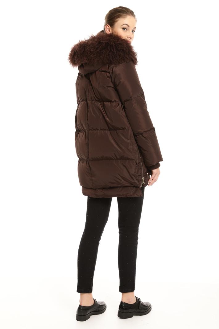 Fur-trim down coat Intrend
