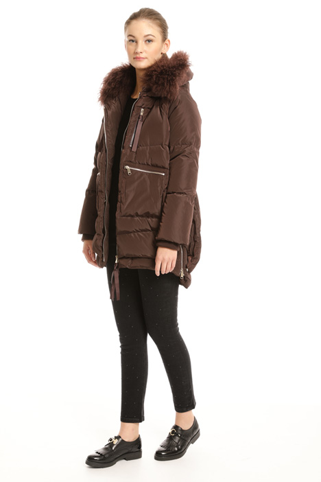 Fur-trim down coat Intrend