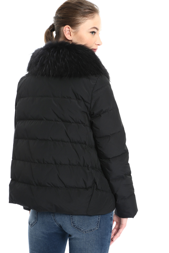 Fur trimmed down jacket Intrend