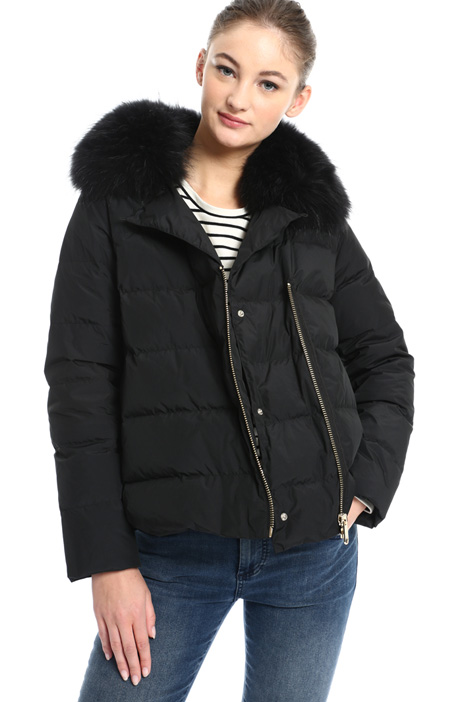 Fur trimmed down jacket Intrend