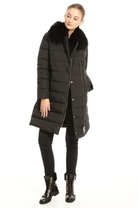 Fur collar down coat Intrend