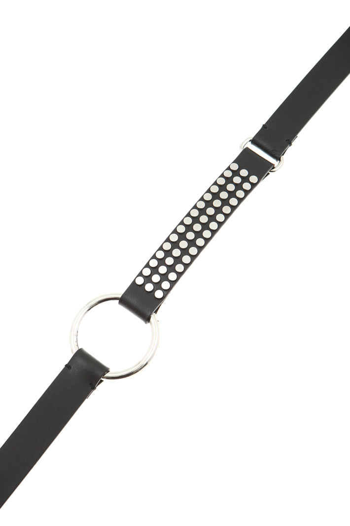 Studded leather belt Intrend