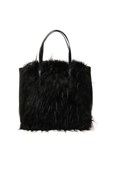 Fur effect shopping bag Intrend