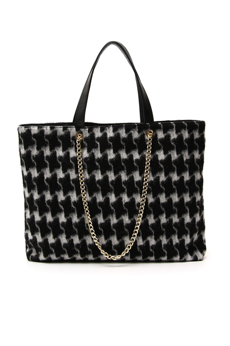 Wool crepe maxi shopper bag Intrend
