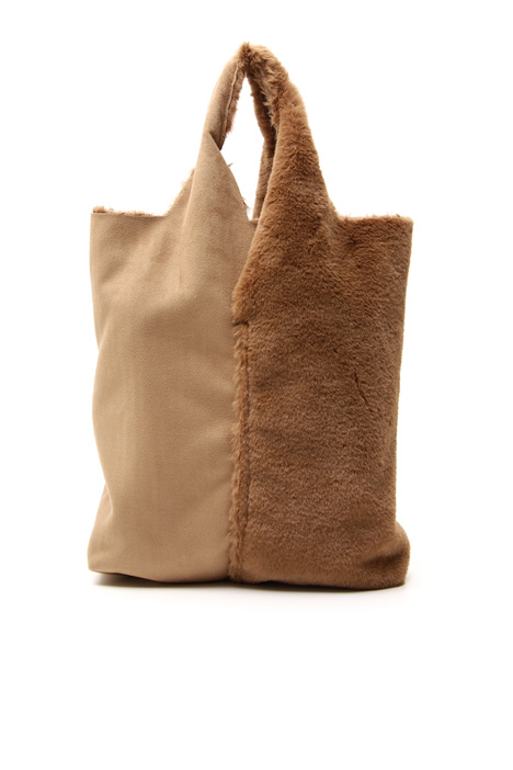 Faux leather shopping bag Intrend