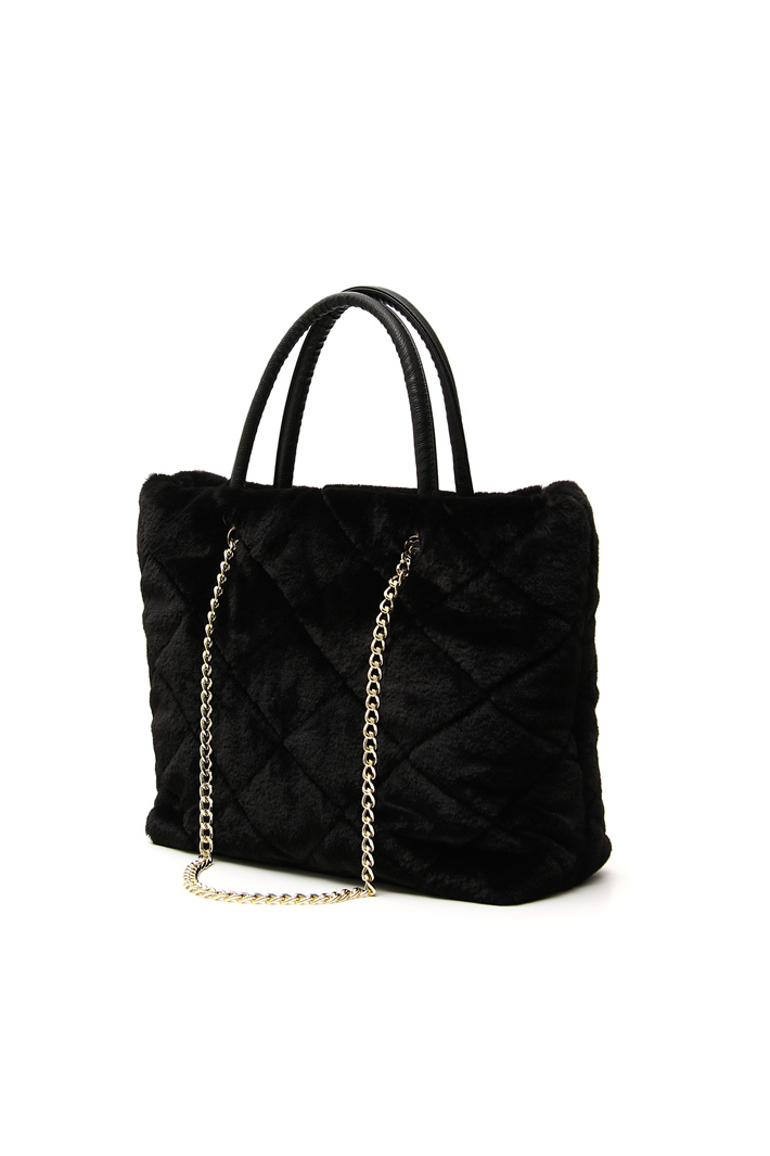 Fur-effect shopper bag Intrend