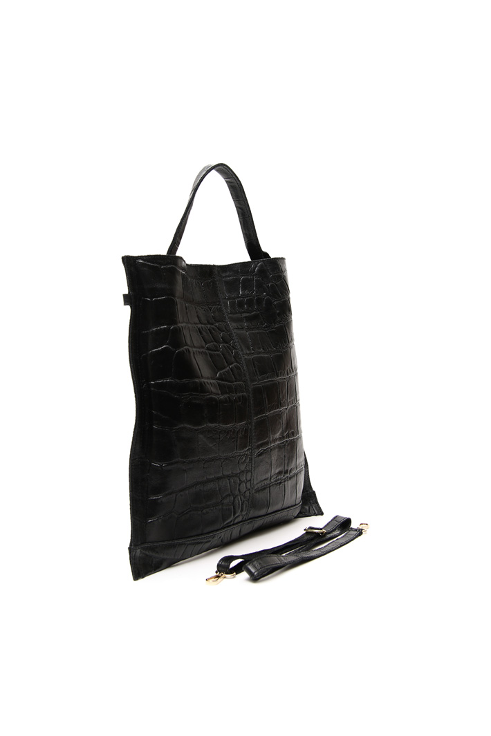 Leather shopping bag Intrend