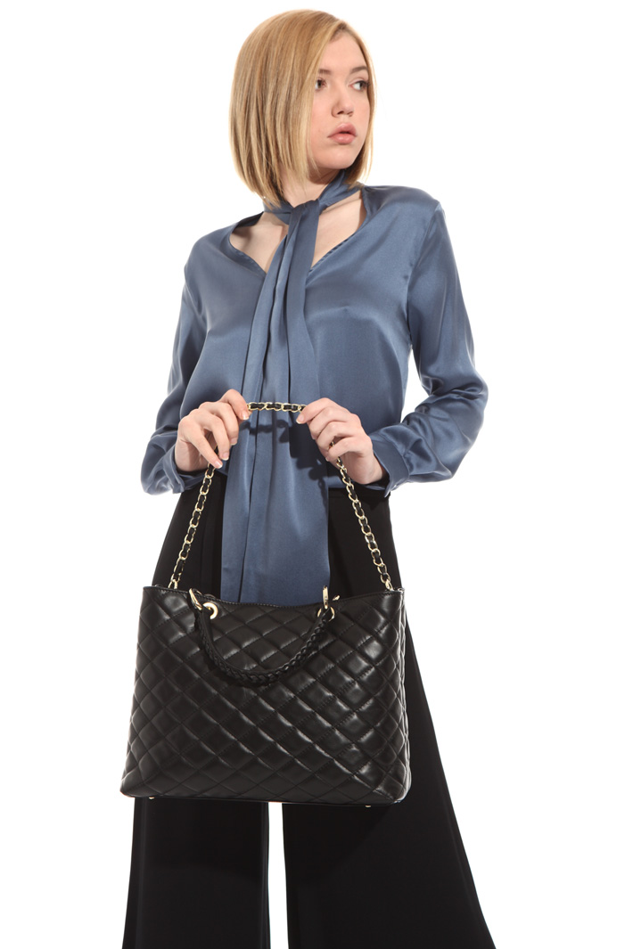 Quilted leather bag Intrend
