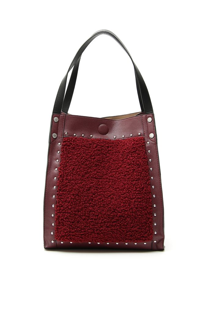 Shearling-effect shopper bag Intrend