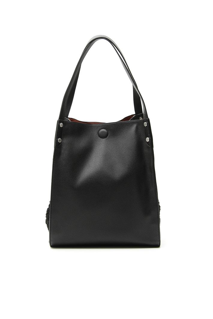 Shearling-effect shopper bag Intrend