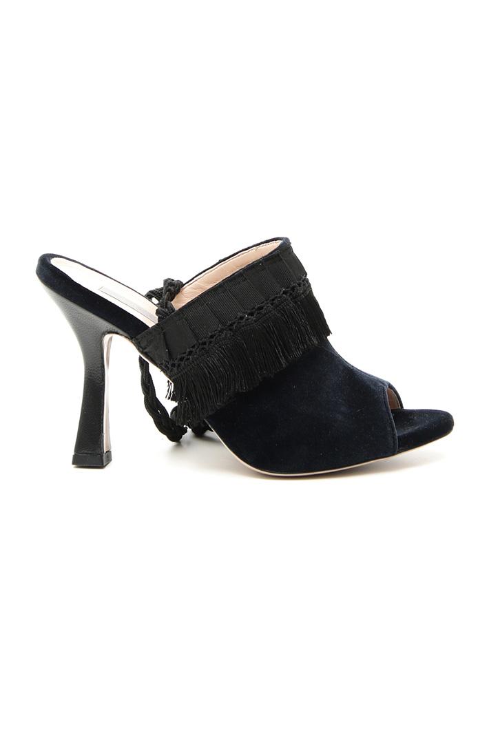 Velvet sandals Intrend