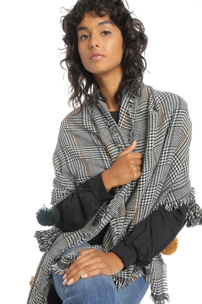 Maxi pompon scarf Intrend