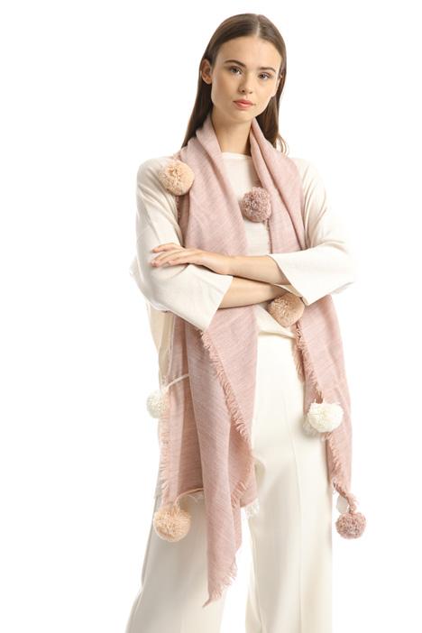 Soft pom pom scarf Intrend