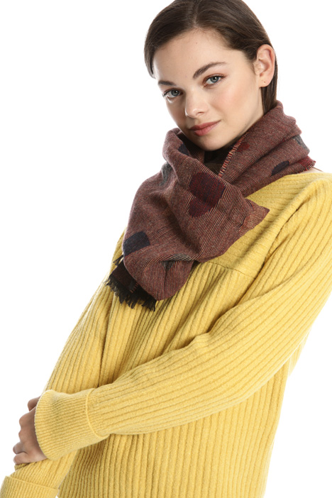 Jacquard wool blend scarf Intrend