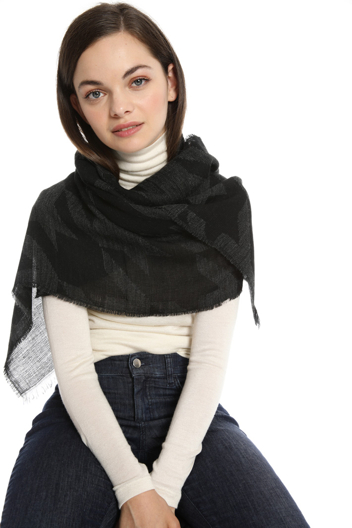 Soft jacquard scarf Intrend