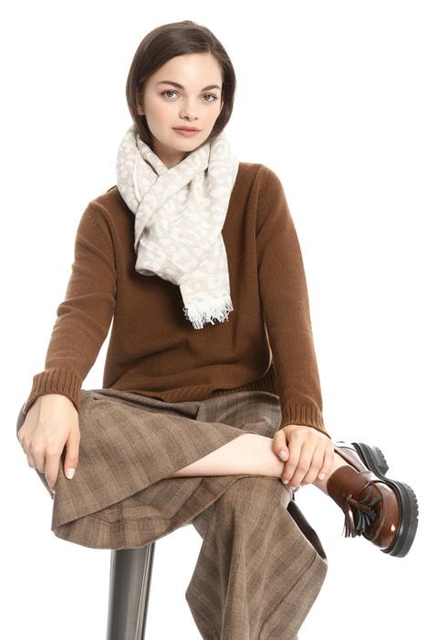 Animal print jacquard scarf Intrend