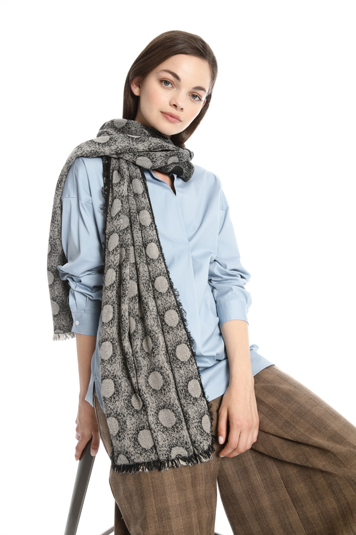 Polka dot wool scarf Intrend