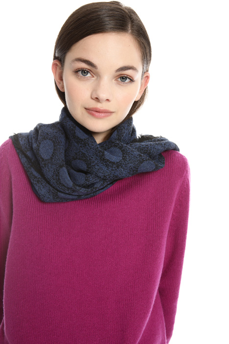 Polka dot wool scarf Intrend