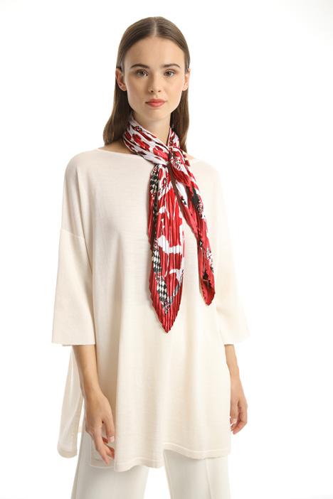 Pleated foulard with print Intrend