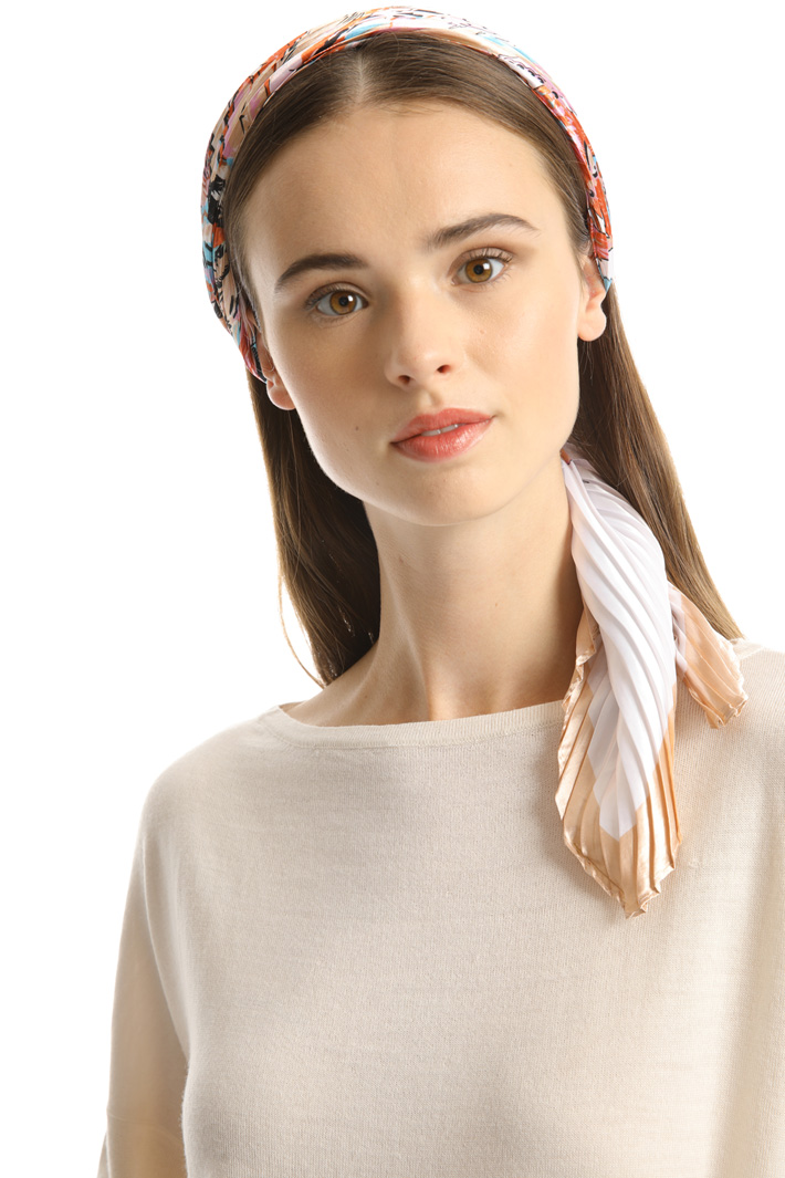 Viscose satin foulard Intrend