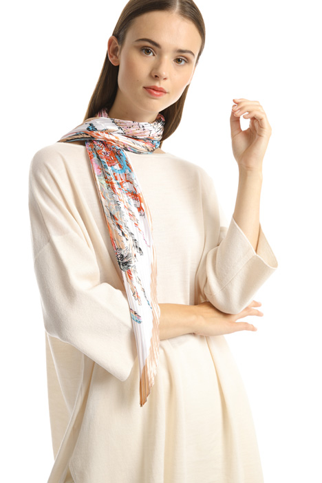 Viscose satin foulard Intrend