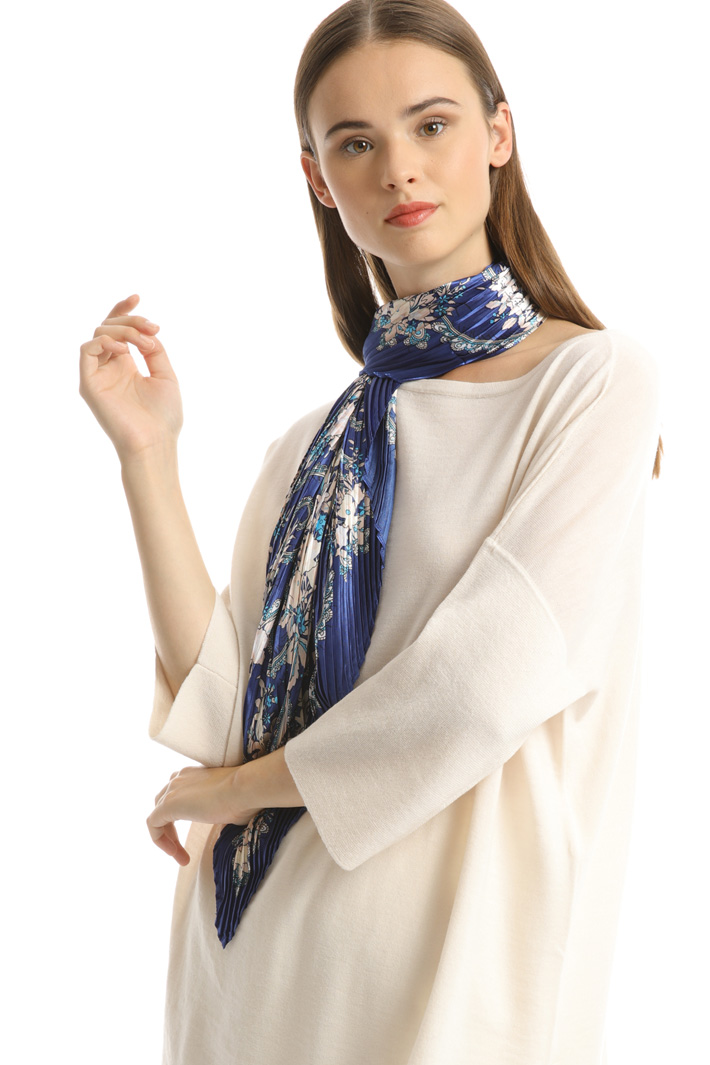 Printed satin foulard Intrend