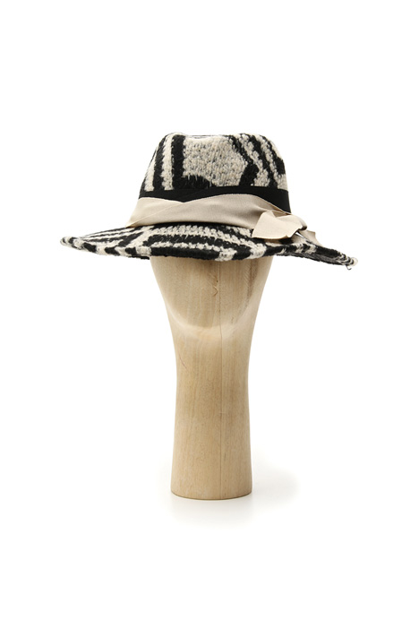 Patterned hat in felt wool Intrend