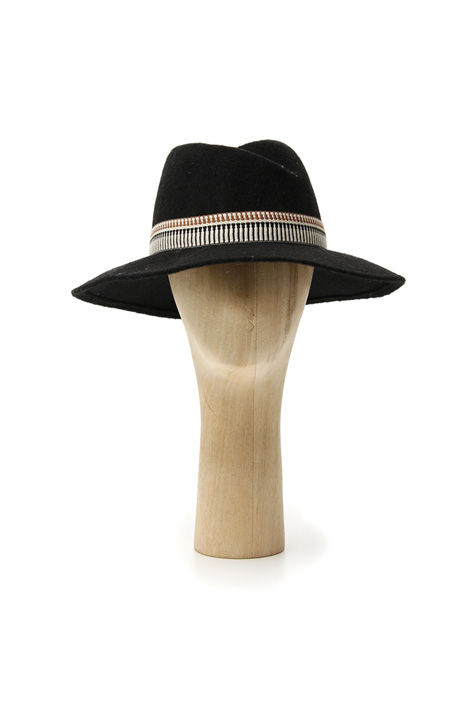 Fedora with jacquard ribbon Intrend