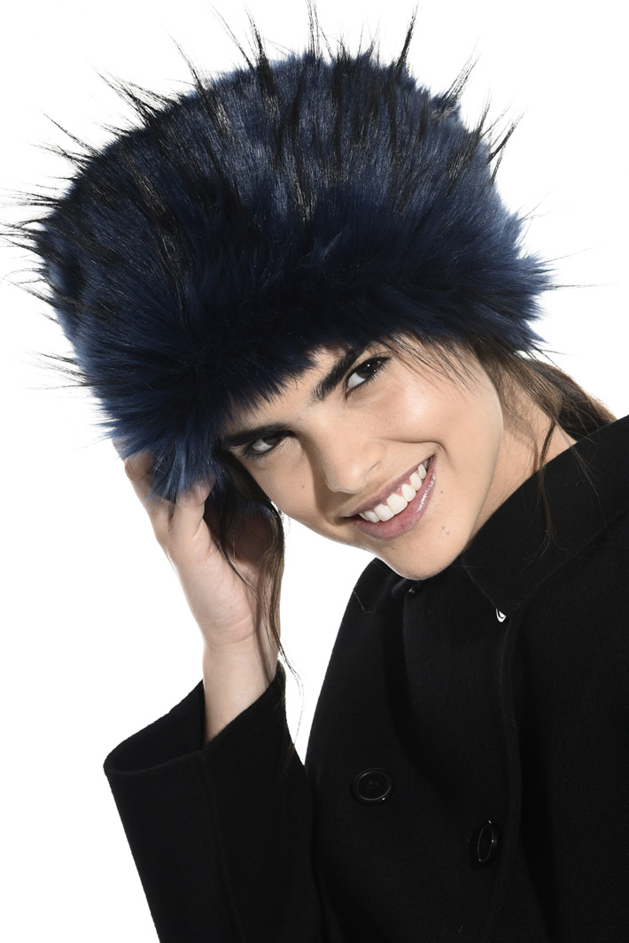Fur-effect Cossack hat Intrend