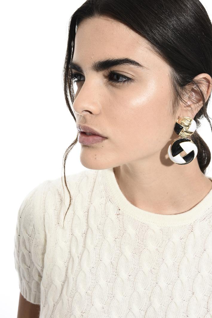 Metal earrings Intrend