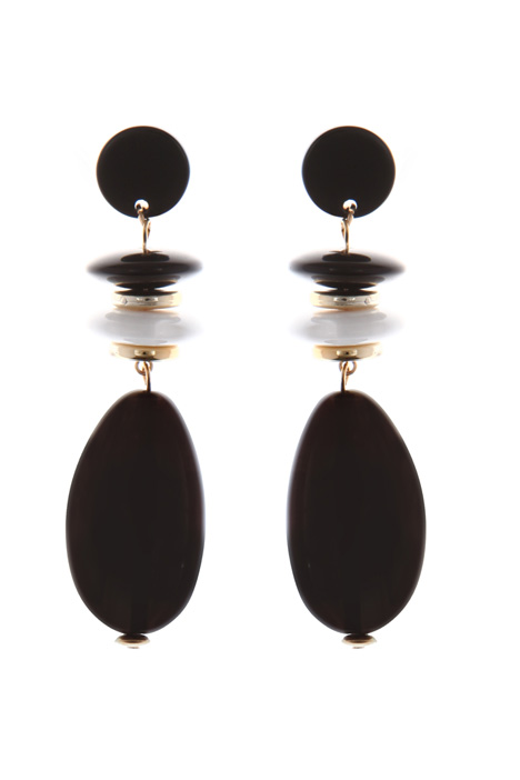 Drop earrings in resin Intrend