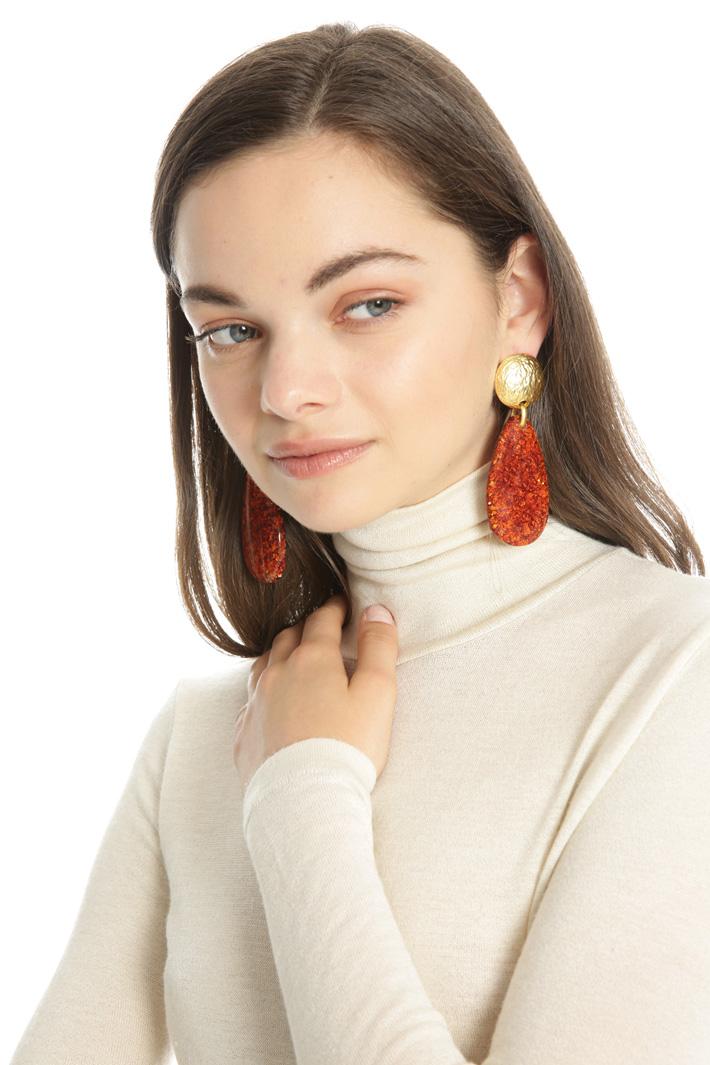 Resin earrings Intrend