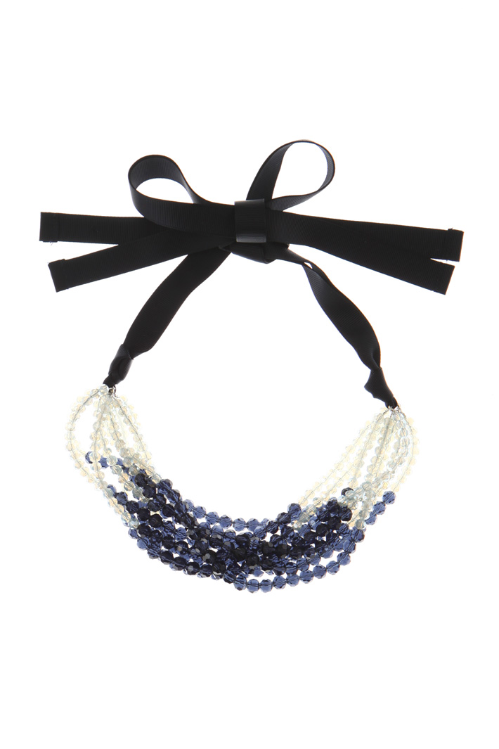 Ribbon necklace with stones Intrend