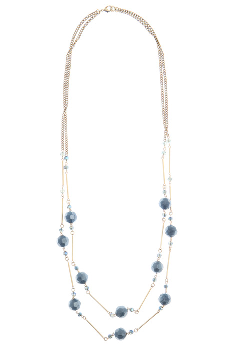 Multi-faceted stone necklace Intrend
