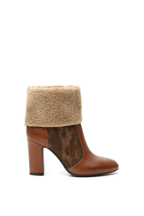 Sheepskin-Effect ankle boots Intrend