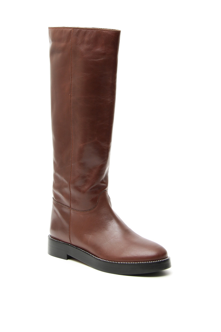 Low leather boots Intrend