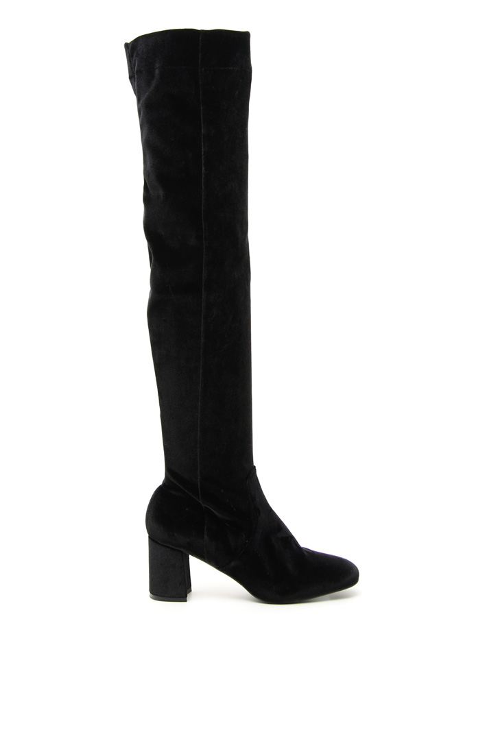 Over-the-knee velvet boots Intrend