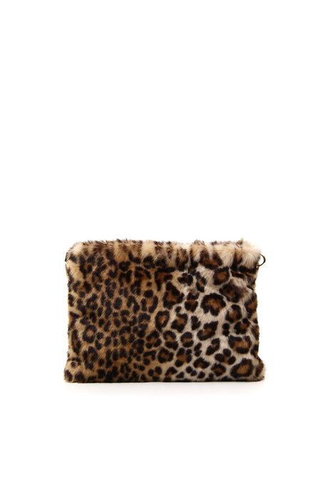 Fur-effect envelope bag Intrend