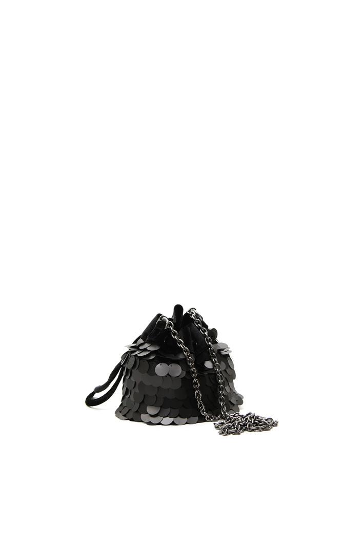 Velvet-effect bucket bag Intrend