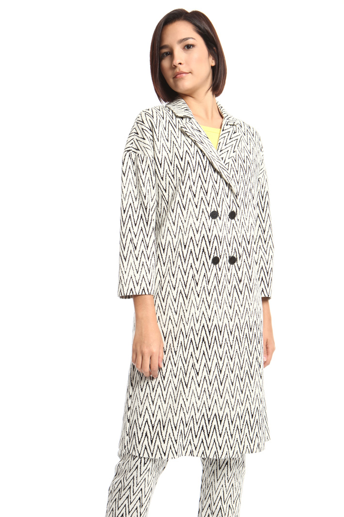 Jacquard jersey duster coat Intrend