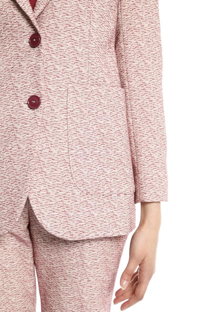 Cotton jacquard blazer Intrend