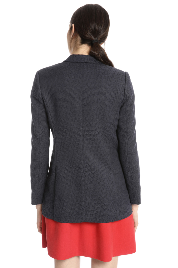 Cotton jacquard blazer Intrend
