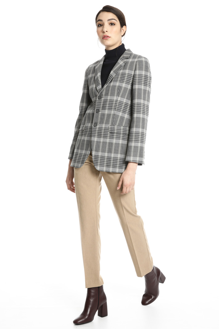 Checked blazer Intrend