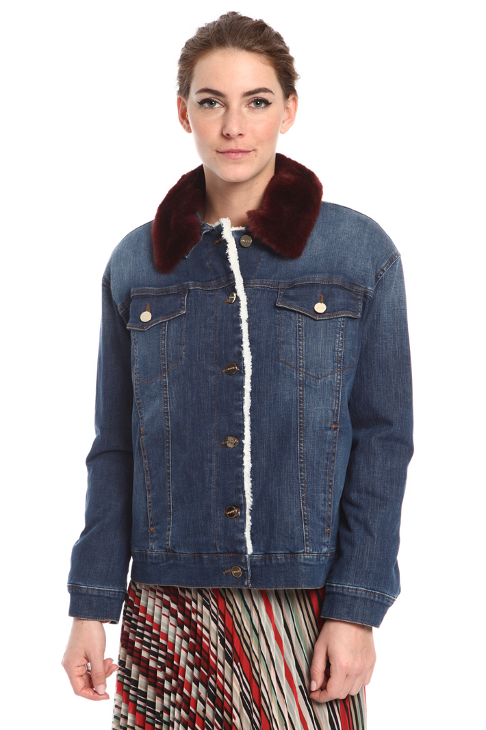 Lined denim jacket  Intrend