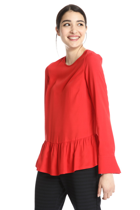 Viscose blouse with flounce  Intrend
